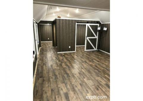 FINISHED CUSTOMIZED PORTABLE BUILDINGS & TINY HOMES - DOWN PAYMENT WAIVED!!